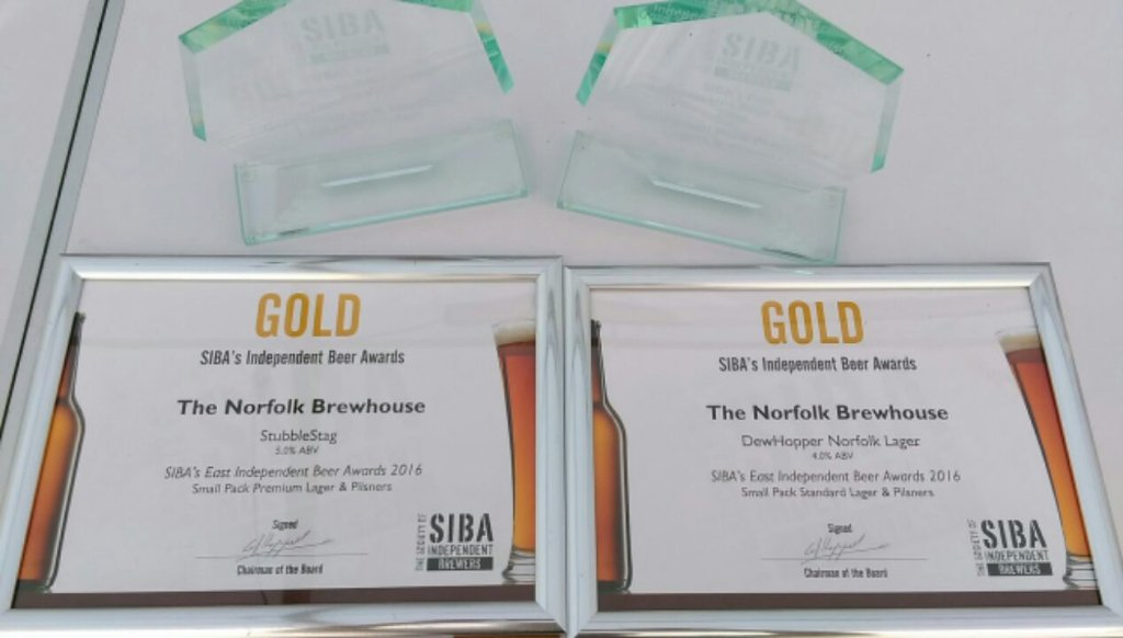 Double delight as our two Norfolk lagers voted best in the East